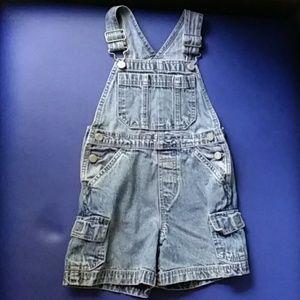 GAP short blue jean overalls size junior XS
